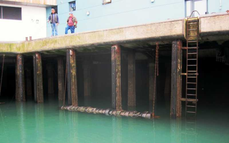 Timber And Rubber Fender Installation Millennium Marine